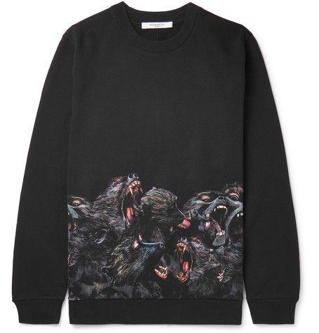 Monkey Brothers Printed Fleece-Back Cotton-Jersey Sweatshirt - Givenchy
