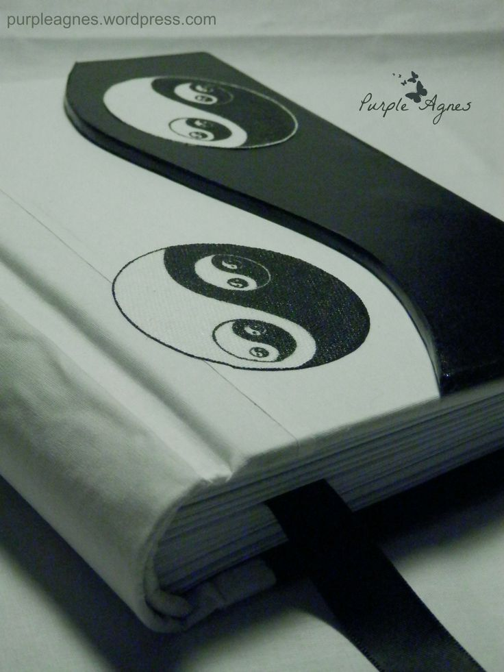 Yin- Yang Handmade Journal, Hard Cover, picture 2