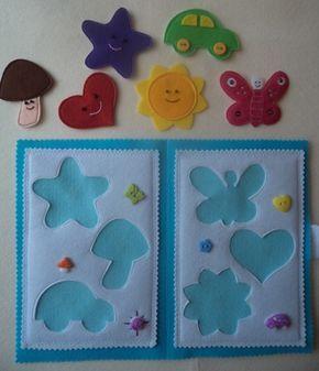 Livro feltro - artesanato para crianças - quebra-cabeça