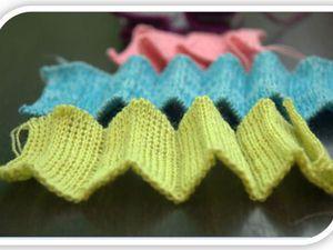 МК   Машинное вязание. Вертикальные складки на основе ластика | Ярмарка Мастеров - ручная работа, handmade