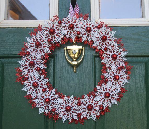 Natale fiocco di neve ghirlanda  canna di caramella