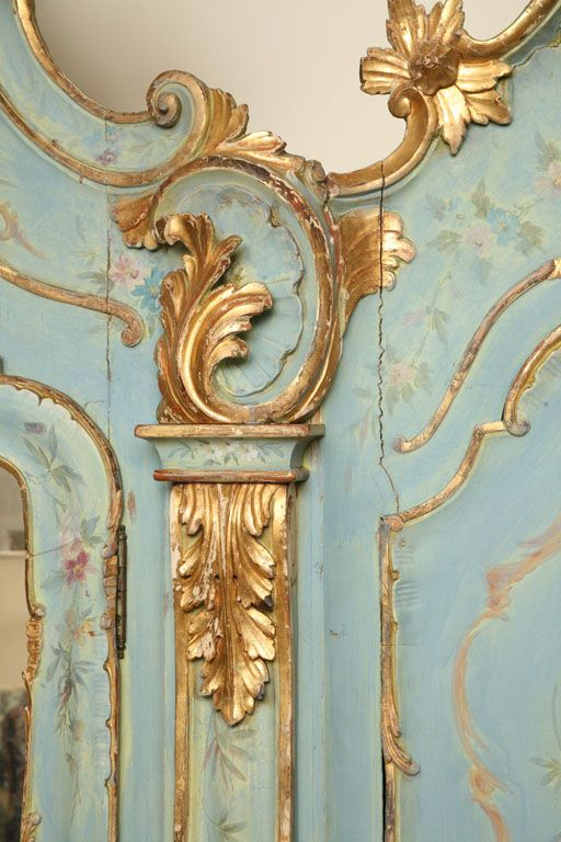 19th Century Venetian Painted Armoire~