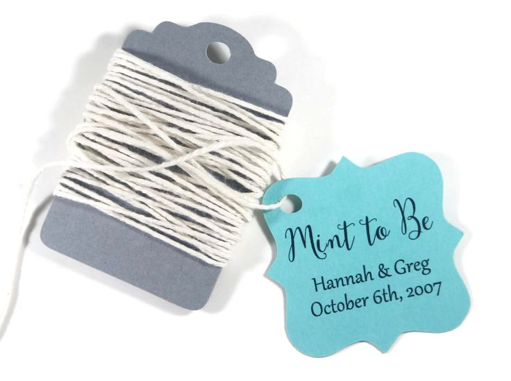 Pool Blue Wedding Gift Tags set of 20 - Personalized Favor Tags - Aqua Custom Favors - Robin's Egg Blue Bridal Shower Tags - Mint to Be by ThePaperMedley on Etsy
