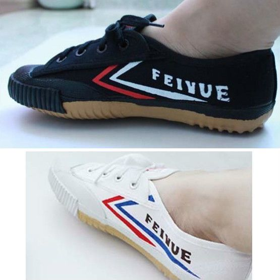 Shanghai feiyue Black White Canvas Running Wushu Taichi KungFu shoes Sneaker. Chinese martial arts training gear