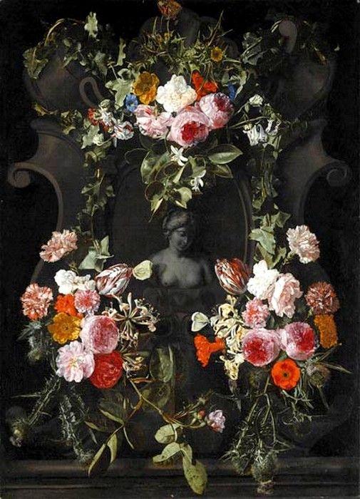 Carstian Luyckx (1623-c.1675) — Stilleven Door,1623-1658   (505×700)