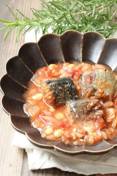 サバの味噌煮缶詰を使うので簡単にコクうまのトマト煮が完成します!  しかも加熱はレンジのみなので、スピード調理&火を使いたくない日にぴったり!    サバ缶は余計な添加物が入っていないものが多く、小さな子どもにも安心して食べさせられます!    魚嫌いの子にもオススメメニュー!