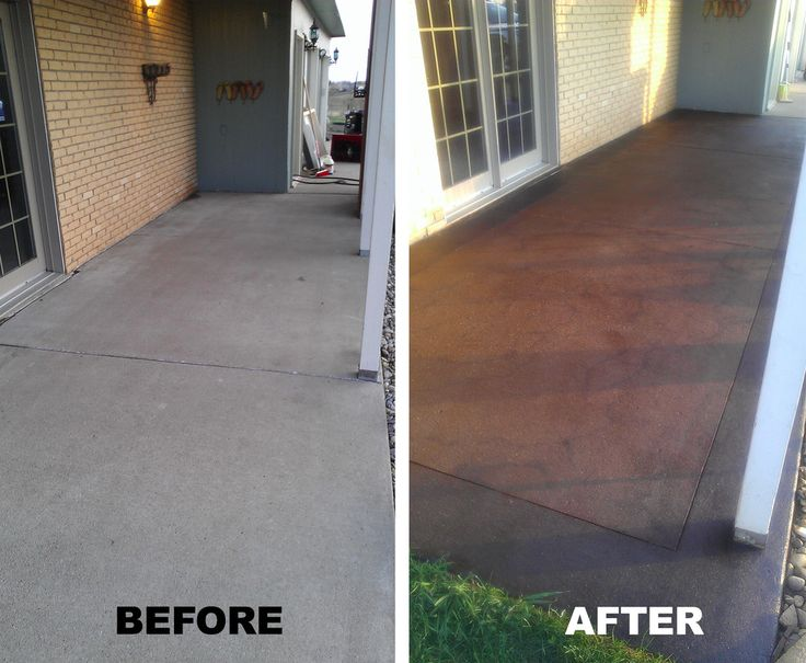 Front porch – Stained Concrete…a definate must for my front porch!!