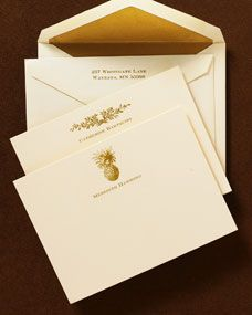 Ivory & Gold Correspondence Cards