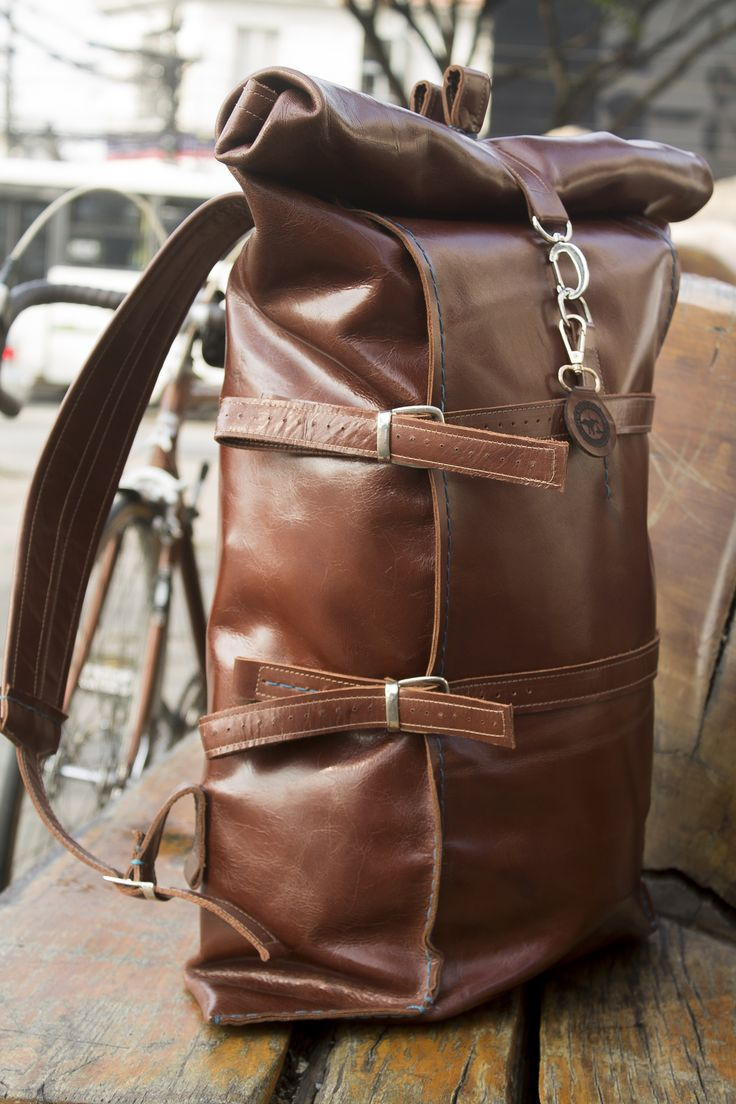 Handmade leather Backpack/bicycle pannier