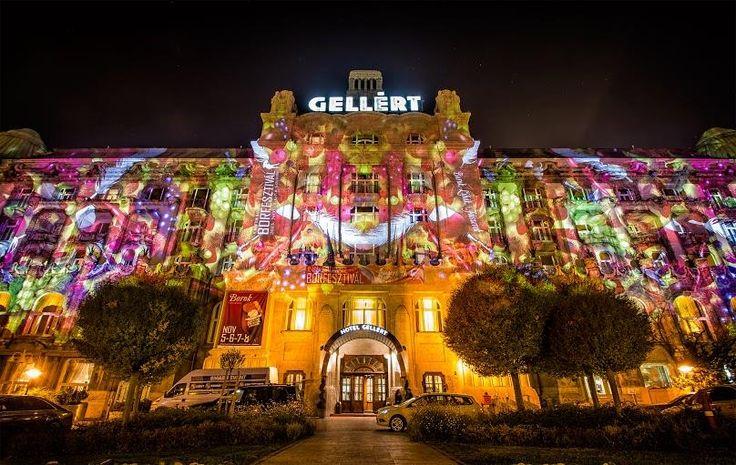 Ha november, akkor Márton napi libalakoma és Danubius Hotel Gellért Borfesztivál - #NightProjection #fényfestés