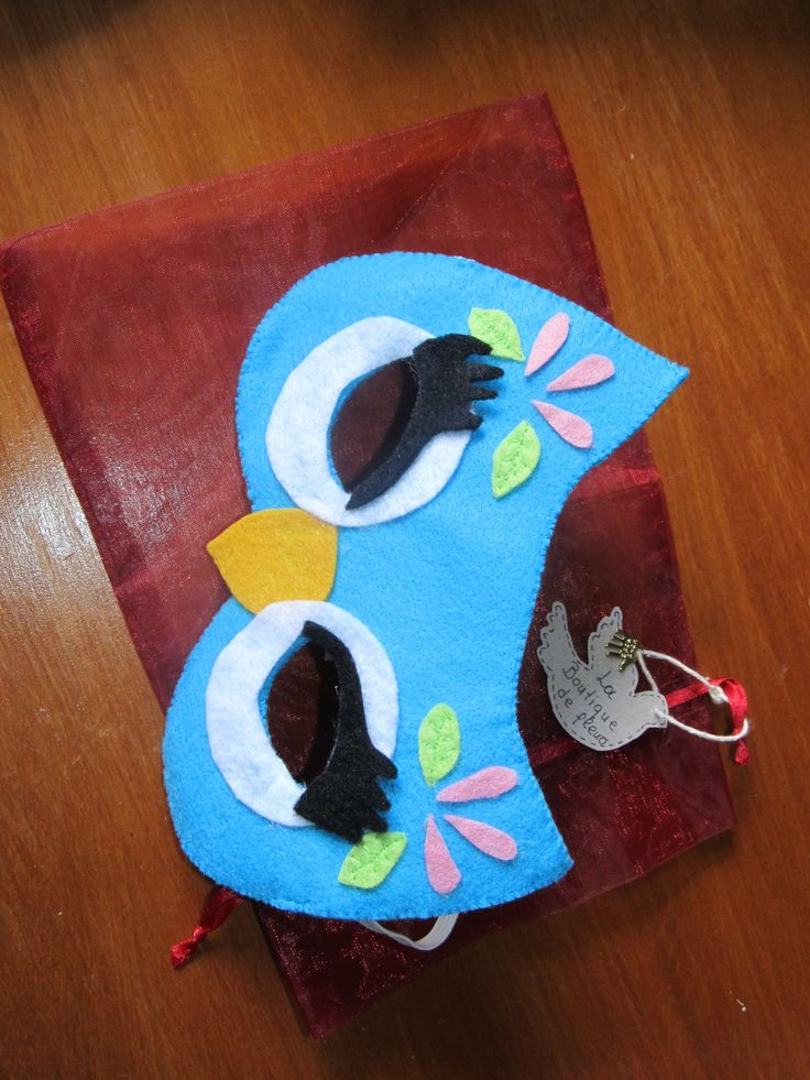 Owl Mask. Made with felt.