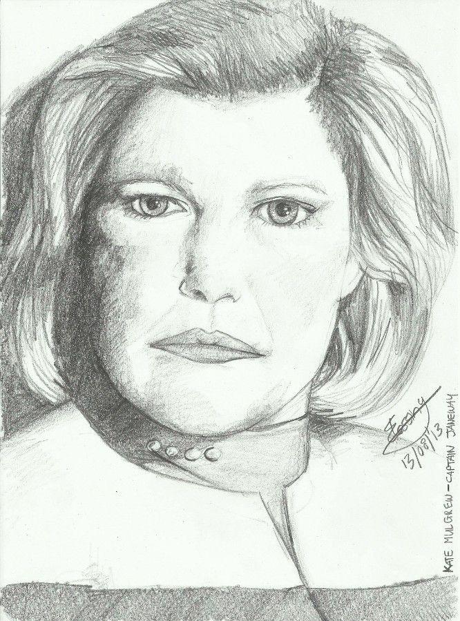 Best captain in star fleet :D Captain Kathryn Janeway by mindless-pixie.deviantart.com on @deviantART