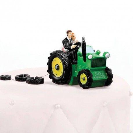 Une figurine mariage sur le thème tracteur.Une figurine original pour les amoureux de l'agriculture.