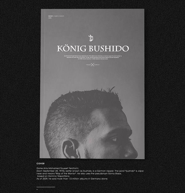 Bushido (german rapper) Website Redesign on Behance