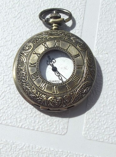 Available via email too!  chpbtq@telus.net  'Geek/Steampunk Pocket Watch Roman Numerals' is going up for auction at  8pm Wed, Aug 22 with a starting bid of $10.