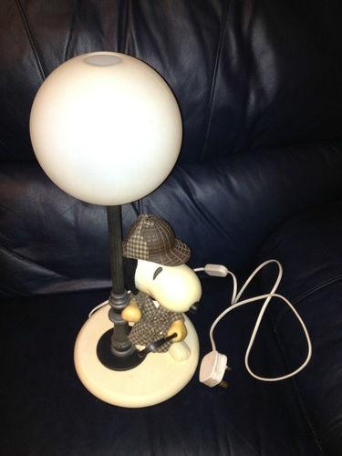 Retro Sherlock Holmes Snoopy Lamp in Working Order Vintage ...