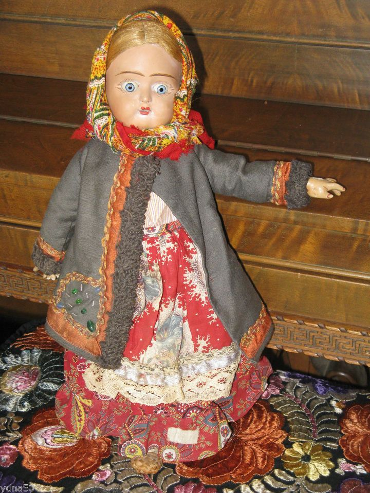 Сказочные античные бисквит Руководитель СССР Советский Союз русская Крестьянская девушка Кукла