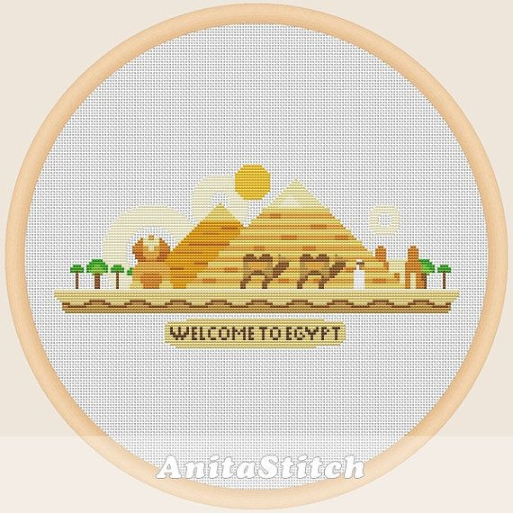 Welcome to Egypt  Cross stitch pattern от AnitaStitch на Etsy