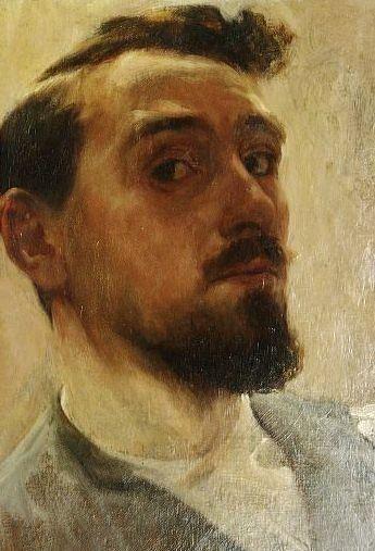Self portrait by Nicolaas van der Waay (Dutch 1855-1936)