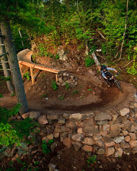 "To here next! Copper Harbor, MI ""The Castle"" at the bottom of ""the Flow"" trail. Photo courtesy of Hansi Johnson"