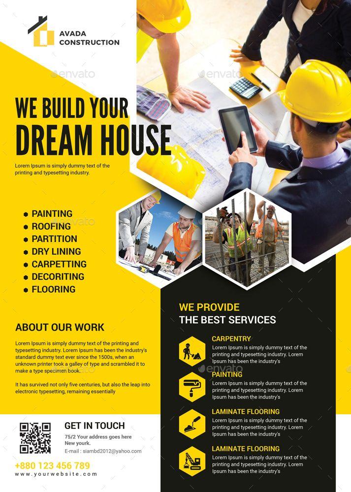 construction flyers bundle  construction   flyers   bundle