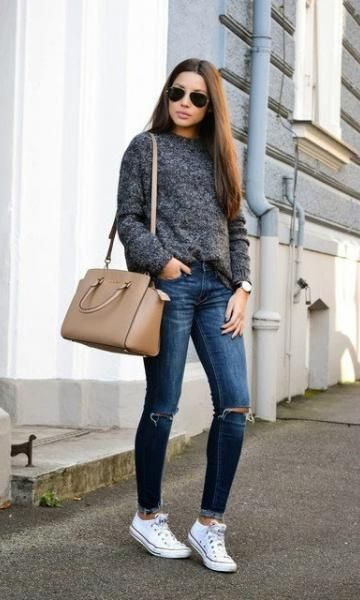 Look Calça Jeans: Tênis + sueter