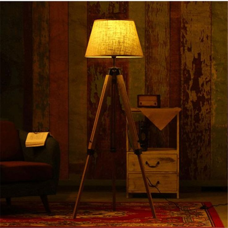 Wooden Floor Lamp //Price: $340.99 & FREE Shipping //     #woodworking