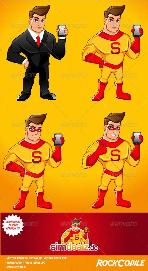 Super Hero Mascot — Vector EPS #guy #sms • Available here → https://graphicriver.net/item/super-hero-mascot/5813350?ref=pxcr