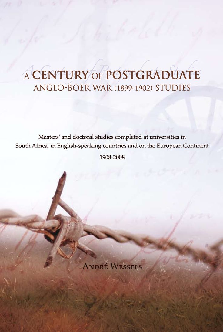 This study provides students, historians, other academics and scholars, as well as other researchers and anyone interested in the history of the Anglo-Boer War, with as comprehensive a list as possible of all postgraduate studies completed on any conceivable aspect of the war, as well as any other postgraduate studies which refer, to some extent, to the conflict.