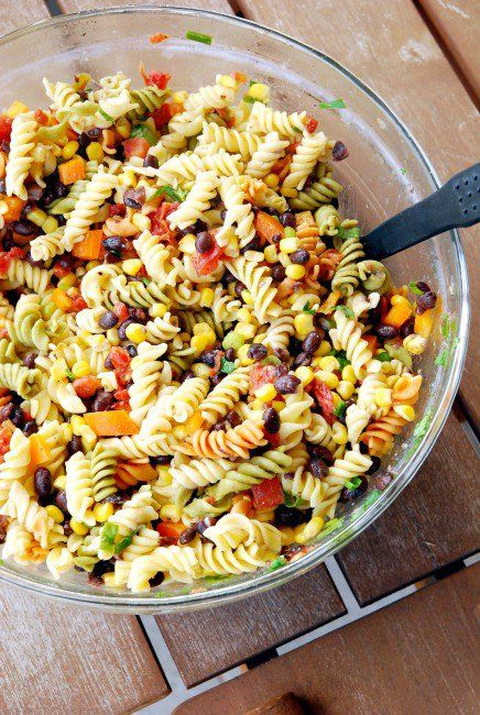 Mexican Pasta Salad 2 small 436x650 Simple summer supper: Mexican pasta salad