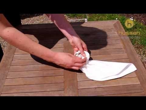 Serviette falten Rose - Anleitung - Tischwäsche Deko Hussenverleih24 - YouTube