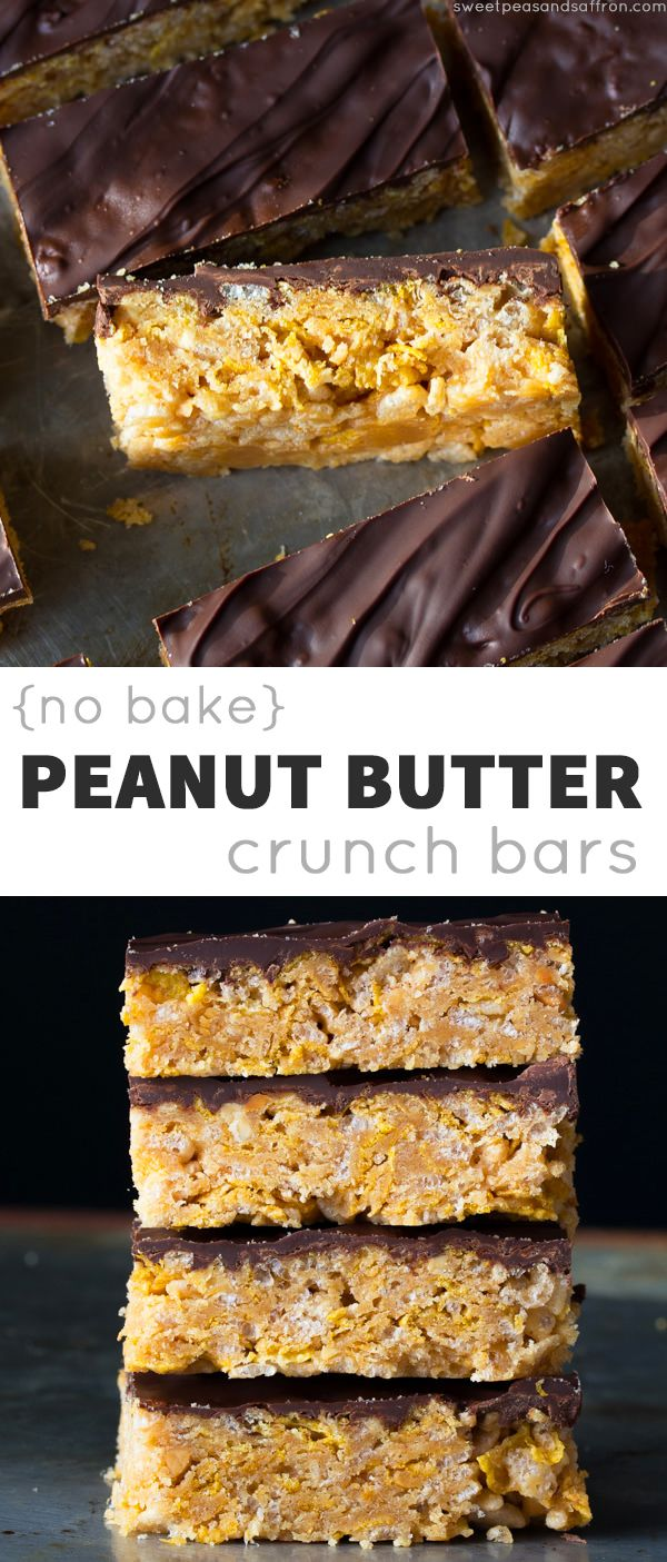 No-Bake Peanut Butter Crunch Cereal Bars- 6 ingredients, 20 minutes, no oven! sweetpeasandsaffron.com @sweetpeasaffron