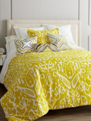 loving this yellow and gray color palette and of these modern motifs!
