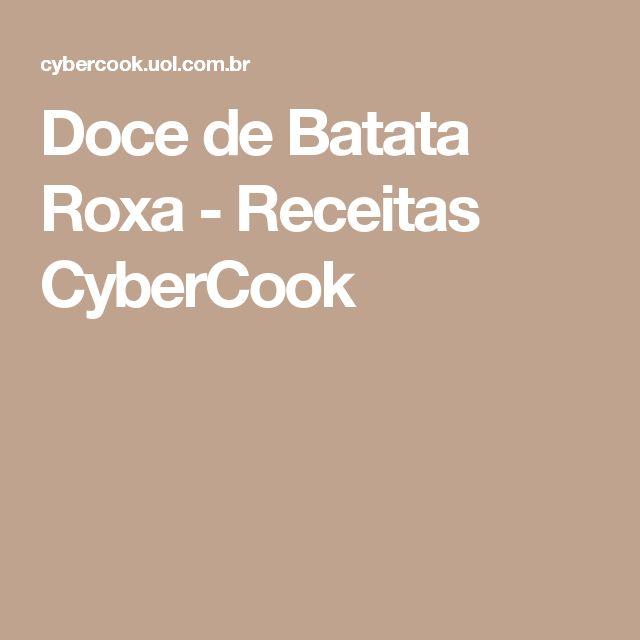 Doce de Batata Roxa - Receitas CyberCook