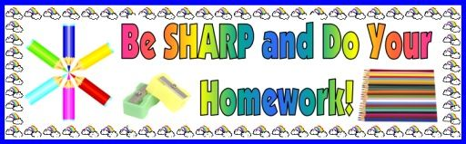 """FREE DOWNLOAD:  5 page bulletin board display banner """"Be SHARP and Do Your Homework!""""  This banner can be used on a bulletin board display above your students' homework sticker charts.  Download this free 5 page banner AND a matching """"pencil homework sticker chart"""" on Unique Teaching Resources:  http://www.uniqueteachingresources.com/incentive-and-sticker-charts.html  (FREE!)"""