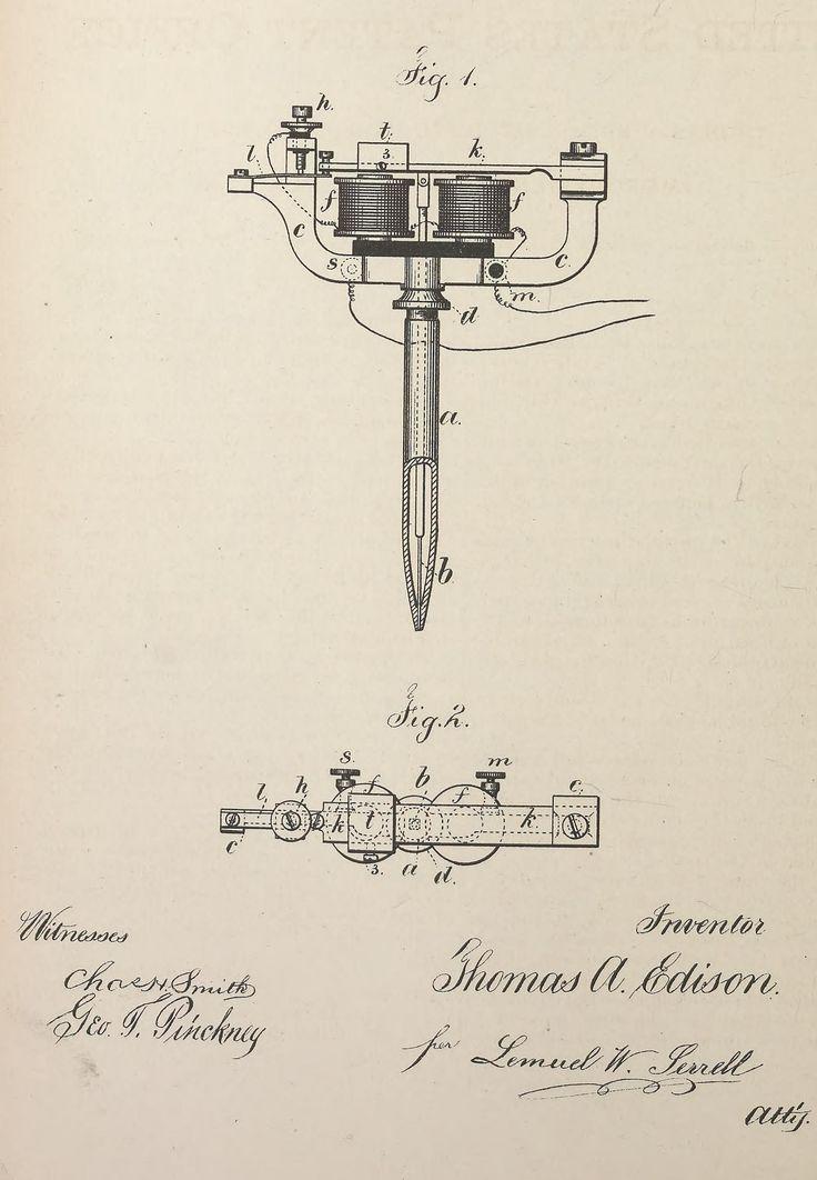 Caneta elétrica Entre todas as invenções deixadas por Thomas Edison, a mais inusitada — e talvez menos conhecida — foi sua caneta elétrica de 1875, que produzia cópias de documentos conforme a pessoa escrevesse. A ideia não foi capaz de competir com as populares máquinas de datilografia, mas seu projeto inicial ajudou a lançar a primeira agulha elétrica para tatuagens, em 1891.