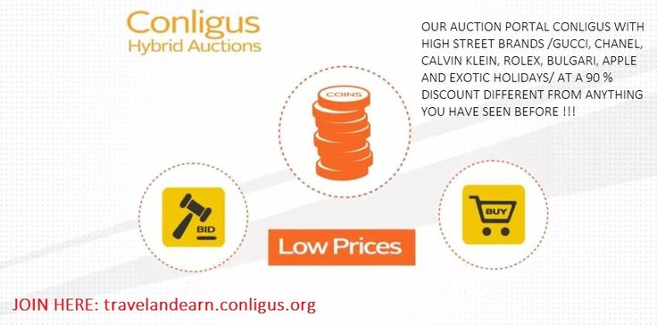 The Hybrid Auction is the first product of Conligus. Giving people the chance to win products with as much as 91% discount!!! JOIN TO OUR TEAM: https://travelandearn.conligus.org/#auction #hybridauction #auctionplatform #onlineauction #auctionportal #discounts #business #onlinebusiness #homebusiness #homebasedbusiness #conligus #holiday #highendproducts #highstreet #highstreetbrands #luxury #luxuryproducts #lifestyle #bids #bid #bidding #offer #deal #travelandearn