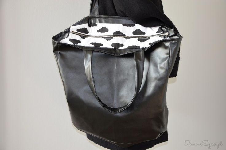 torba, duża torba, torba z ekoskóry, handmade