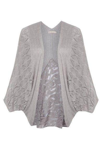 COSTUME - Kimono tricô Costume - cinza - OQVestir