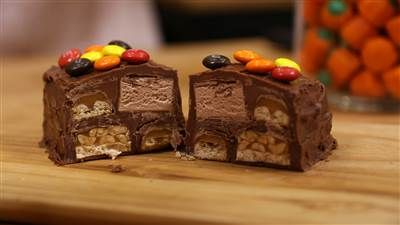 Like a dream within a dream, this giant chocolate MegaBar has four different chocolate candies hidden inside.