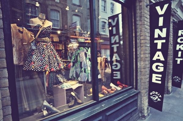 vintage shopping in England
