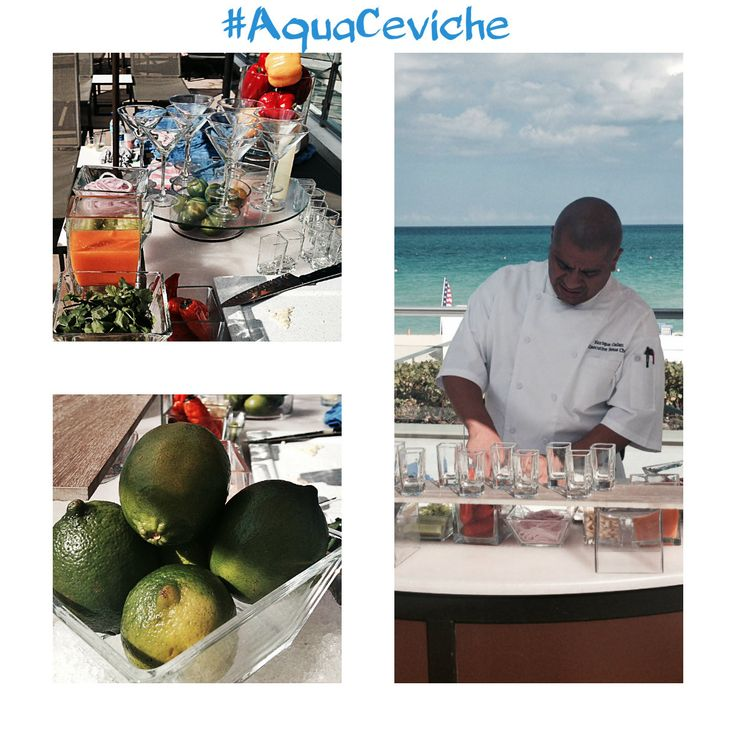 Aqua Ceviche:   INGREDIENTS   • 2 lbs of fresh Grouper, cut into 1/2 inch pieces  • 1/2 cup of fresh squeezed lime juice  • 1/2 of red onion, sliced  • ½ cup of Aji Limo  • 1 cup of chopped fresh garlic  • 2 teaspoons of sea salt  • Dash of black pepper   METHOD • In a dish, place the fish, onion, garlic, salt, pepper and Aji Limo. Cover with lime juice. Stir, making sure the fish gets covered with the acidic lime juice.   Serve in a chilled martini glass and enjoy!