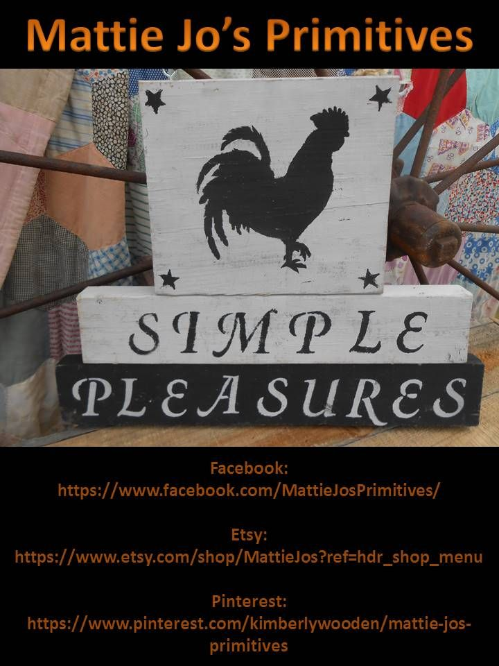 """""""Simple pleasure"""" wooden sign from re-purposed wood, country, primitive, country primitive, primitive country, farm house, rustic"""