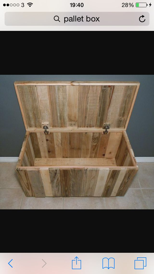 Love a homemade pallet box for a coffee table