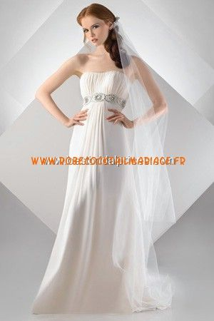 Bari Jay White Robe de Mariée - Style 69927