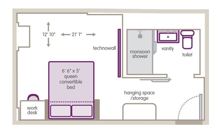 Small hotel room floor plan room design pinterest for Hotel design layout