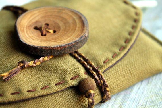 Olive green tobacco pouchEthnic tobacco by JaraKacaHandmade
