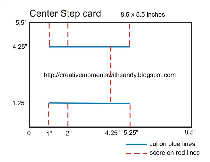 center step card