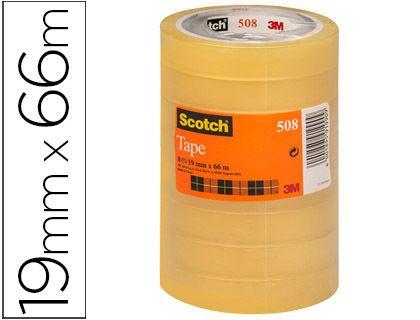 Pack de 8 cintas adhesivas Scotch de 66 m. x 19 mm.
