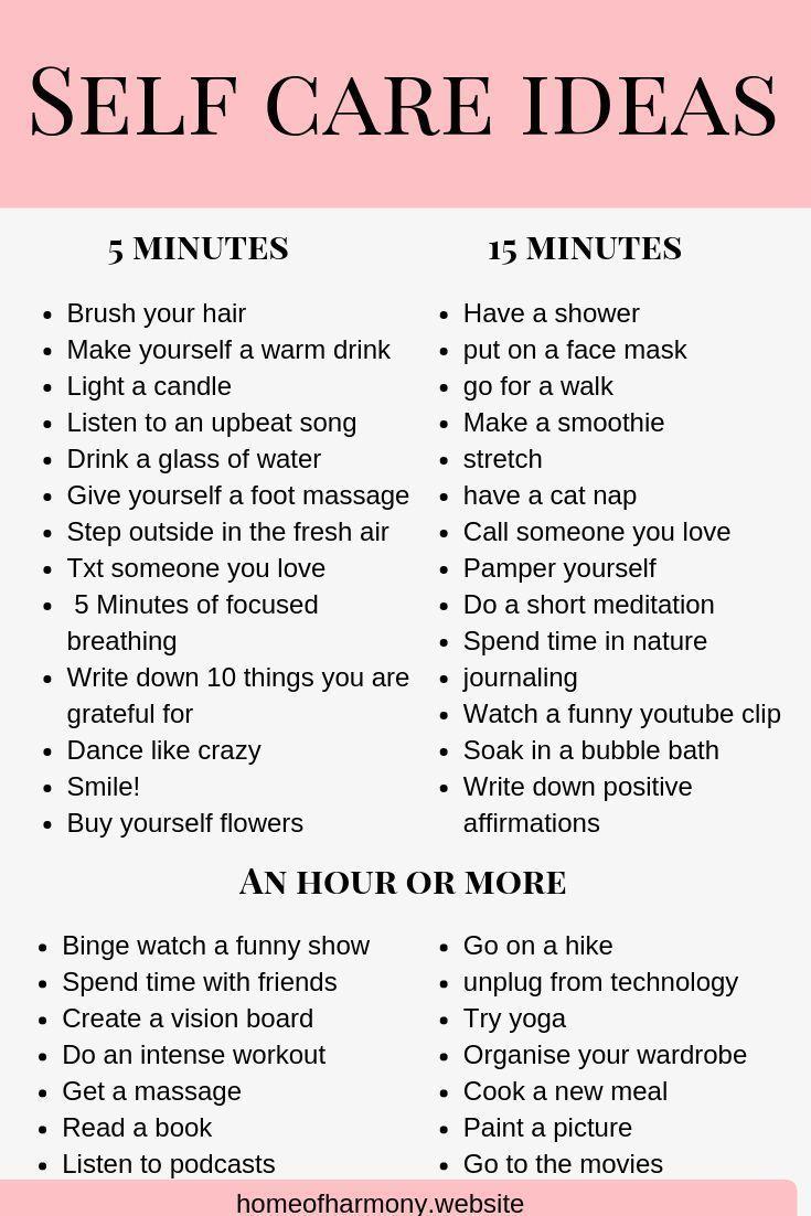PIN DIESE LISTE! Speichern Sie diese Liste als Referenz für Self-Care-Ideen. selbst wenn du …   – Self care tips